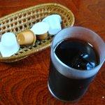 菜根 - 食後のアイスコーヒー