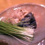 日本料理 正菴 - おこぜの肝、皮、胃袋