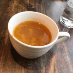 ティンバーズ カフェ ツキジ テーブル - スープ