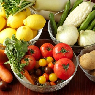 契約農家から届く「新鮮&安心」の野菜を使用