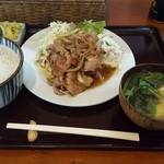 菱田屋 - 生姜焼き定食