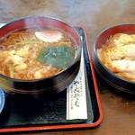 きそば やぶ - 料理写真:ミニかつ丼とたぬきそばのセット 730円