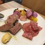 65813777 - 前菜2:パテ・ド・カンパーニュ・サーモン