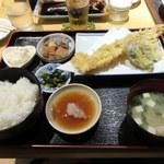 まさいち - 穴子天ぷら定食(850円)
