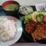 大益ドライブイン - 豚ローススタミナ焼き定食 1000円 通称ガッツスペシャル