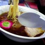 そばの三福 - 麺は中細固めん