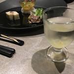 風月無辺 - ドリンク写真:食前酒と前菜