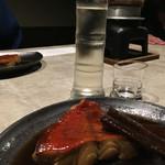風月無辺 - 金目鯛の煮付けと日本酒