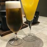 風月無辺 - 生ビールとオレンジソーダ