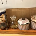 もりの中華そば - 【2017.4.10】卓上調味料。