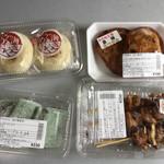 川の駅 よこた 母ちゃん食堂せせらぎ - 購入品の一部 右上の「なべやき」(ホットケーキのようなもの)が美味いんですよ