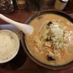 65825091 - 野菜ラーメン(味噌)720円 ライスはサービス