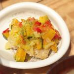 鹿屋アスリート食堂 - 白身魚の唐揚げ ゴロゴロ野菜ソース