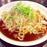 スパゲティハウス チャオ - 「ちゃんぽん」(850円)。ソースをかけるのをケチっただろうビジュアル。ソースは皿を一周させて欲しい。