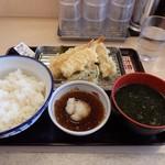 さん天 - 国産イカと海老天ぷら定食