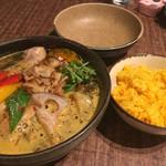 65832205 - チキンと野菜のスープカレー                       ターメリックライス 小盛り