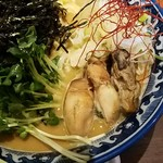 麺や 佐市 - 牡蠣は3個