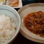 なか卯 - 牛皿定食