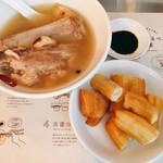 新加坡肉骨茶 - 肉骨茶セット 骨付き肉骨茶+油条 税込@1,050円