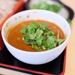 蕎麦処 グレゴリー - カレー汁パクチートッピング