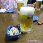 亀善 - 生ビール&お通し2017.04.17