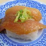 Mutenkurazushi - まぐろ胡麻醤油漬け