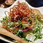 五十八 - コース料理(パリパリ麺と生野菜のまぜまぜサラダ)