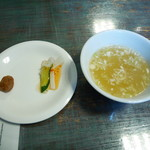 Shanran - スープ、付合せ