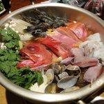渋沢漁港 魚丸 - 料理写真:宴会コースの漁師鍋?です。めちゃウマ!