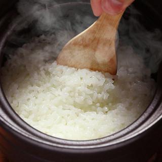 ごはんが甘い。土鍋でふっくら炊いた福井県無農薬コシヒカリ