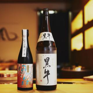 利き酒師をも認めた、季節なネタに合わせたおいしい日本酒。