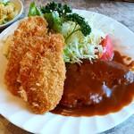 プレ・サレ - レストラン プレ・サレ@神栖市 ランチ ハンバーグとカキフライ