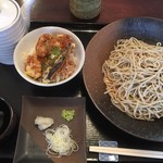 みぞれ - ランチセット大盛り+小エビ天丼950円