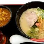 らーめん西海 - らーめん西海@長津田店 ラーメン カレー丼セット