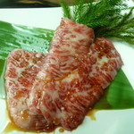 wagyu焼肉 伊萬里 GINZA - サービスのカルビ肉(嬉!)
