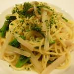 65874236 - 山口県宇部産平貝とウド、菜花のスパゲティーニ