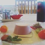 レ・スリジェ - デザートプレート 紫芋 ババロア