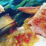 レ・スリジェ - メイン 麦豚カツレツ 野菜ソース