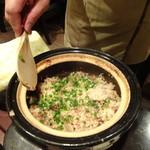 禅紫 - ホタルイカの土鍋炊きご飯