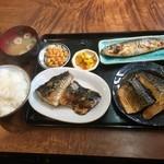 うなぎや - サバ塩焼き定食650円