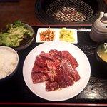 濱や - ハラミ定食(大盛り)(2017.4)