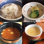 65881101 - ご飯、お漬物、お味噌汁、茶碗蒸し