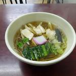 たけうち - ねぎまそば(600円)_2017-04-14