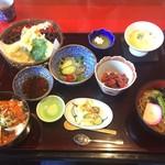 味 ざんまい - 料理写真:天ぷら・ミニ丼御膳【1,300円】