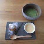 Oomurokeishokudou - 食事メニューは全てデザートとお抹茶付きです