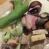 美ゆ輝 - 料理写真:そらまめの天ぷら、バイ貝、かもロース、鰤など