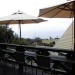 小さな宿&レストラン しいの木やま - ウッドデッキのカウンター席からの眺め