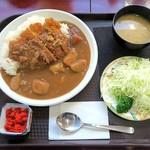 レストラン ポパイ - カツカレー¥800(サラダ・味噌汁つき)