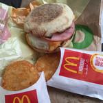 マクドナルド - 料理写真:エッグマックマフィンセット プレミアムコーヒー付=450円