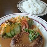 ロッキー - 料理写真:和風みそハンバーグ